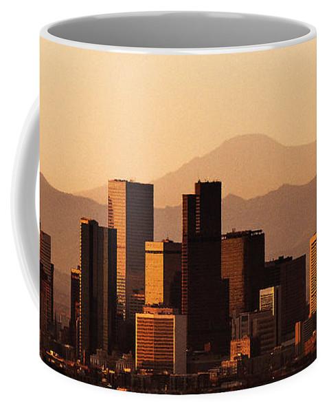 Denver Skyline Coffee Mug featuring the photograph Denver Skyline 2003 by Robert VanDerWal