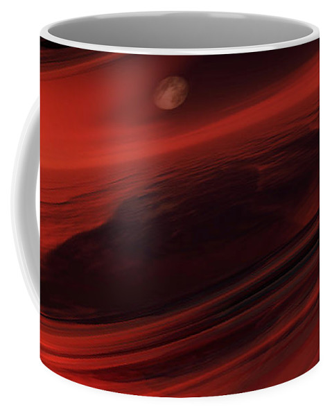Science Fiction Coffee Mug featuring the digital art Departing World by Richard Rizzo