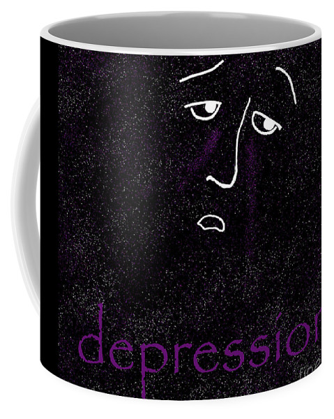 Depression Coffee Mug featuring the digital art Depression by Methune Hively