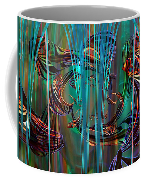 Digital Art Created And Rendered In Paint.net Coffee Mug featuring the digital art Depths by Elaine Bawden