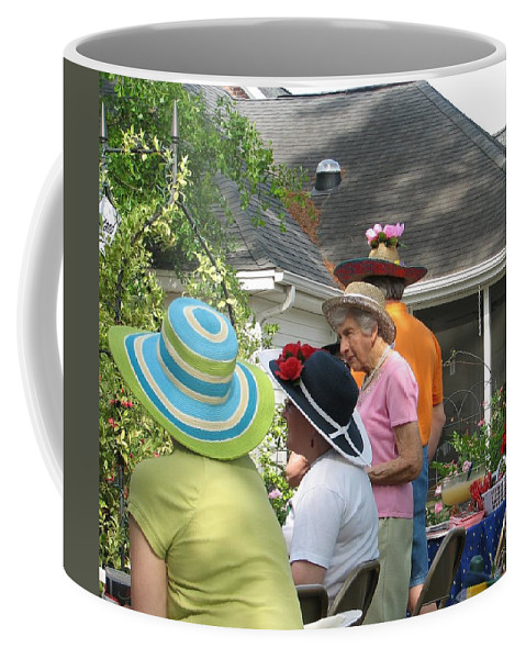 Hat Coffee Mug featuring the photograph Derby Party by Kelly Mezzapelle