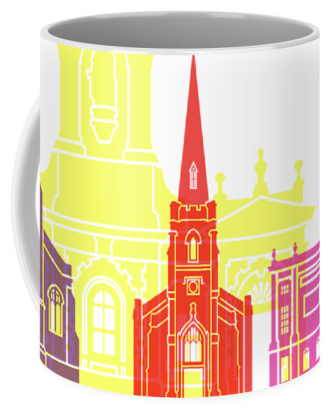 Derby Coffee Mug featuring the painting Derby Skyline Pop by Pablo Romero
