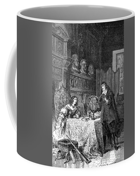 Science Coffee Mug featuring the photograph Descartes Teaching Queen Christina, 1649 by Science Source