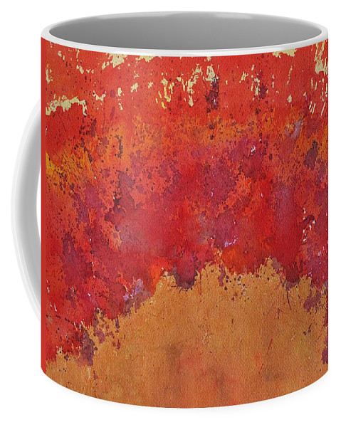 Desert Coffee Mug featuring the painting Desert Arch Original Painting by Sol Luckman