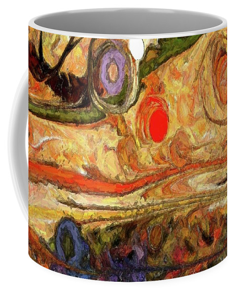 Abstract Coffee Mug featuring the digital art Desert Blossoms by Linda Busch