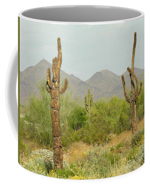 Cactus Coffee Mug featuring the photograph Desert Cactus by Diane Greco-Lesser