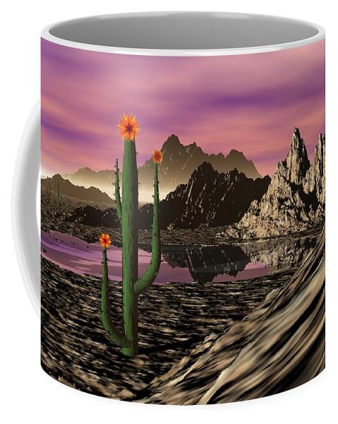 Digital Painting Coffee Mug featuring the digital art Desert Cartoon by David Lane