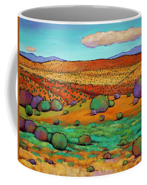 New Mexico Desert Coffee Mug featuring the painting Desert Day by Johnathan Harris
