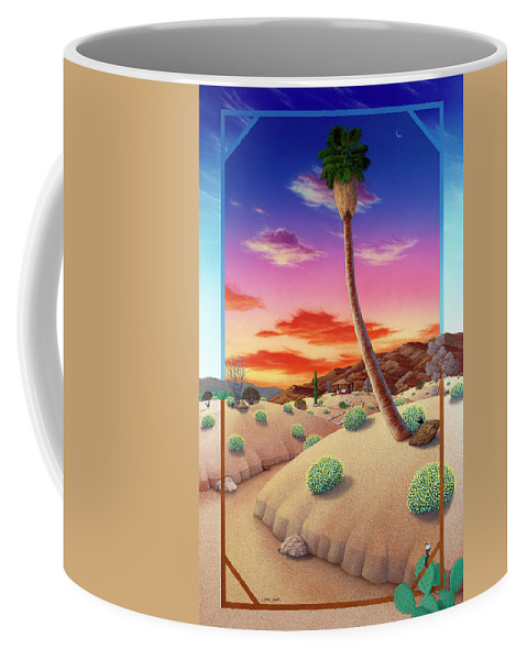 Landscape Coffee Mug featuring the painting Desert Gazebo by Snake Jagger