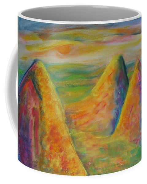 Mixed Media 20 X30 In. Water Color Coffee Mug featuring the mixed media Desert Hiding 2 by Jean Rae Russell