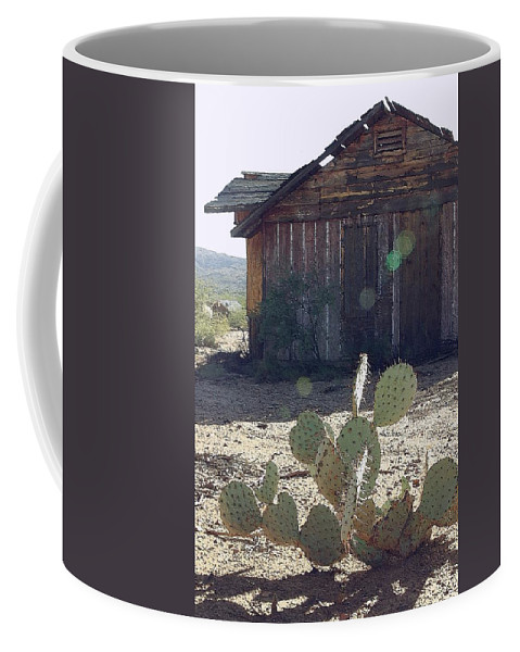 Cabin Coffee Mug featuring the photograph Desert Home by Nelson Strong