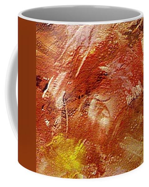 Desert Land Coffee Mug featuring the painting Desert Land by Dragica Micki Fortuna