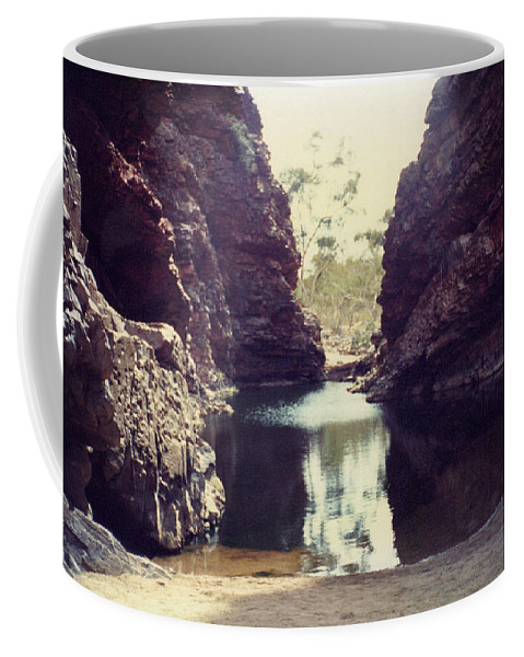 Oasis Coffee Mug featuring the photograph Desert Oasis by Michael French