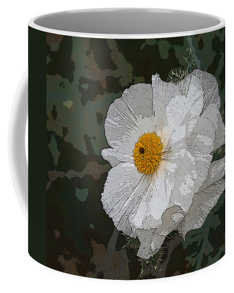 Desert Coffee Mug featuring the photograph Desert Poppies by Marna Edwards Flavell