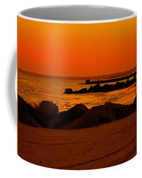 Landscape Coffee Mug featuring the photograph Desert Skies by Kendall Eutemey