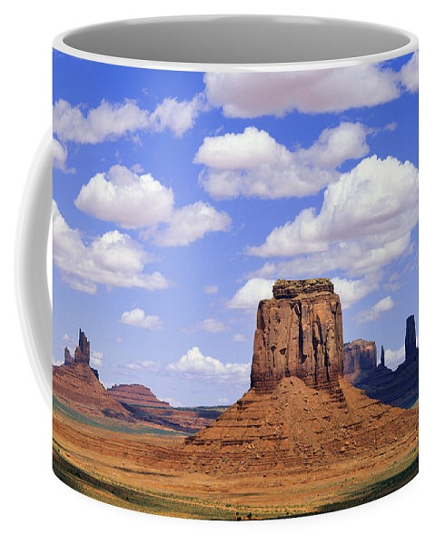 Sandstone Coffee Mug featuring the photograph Desert Sky Over Monument Valley by Buddy Mays
