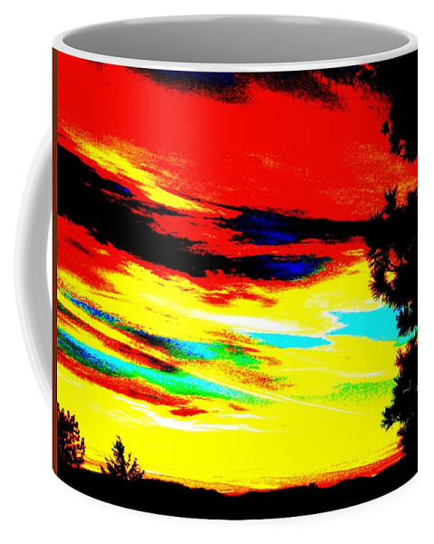 Abstract Coffee Mug featuring the digital art Desert Sky by Will Borden