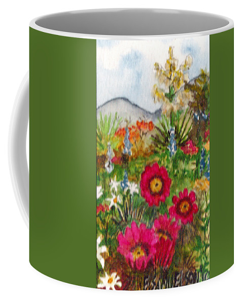 Spring Flowers Coffee Mug featuring the painting Desert Spring by Eric Samuelson