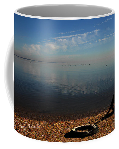 Clay Coffee Mug featuring the photograph Deserted Beach by Clayton Bruster
