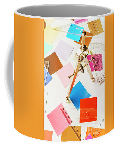 Drafting Coffee Mug featuring the photograph Design In Abstract Geometry by Jorgo Photography - Wall Art Gallery
