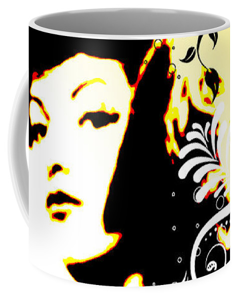 Nostalgic Seduction Coffee Mug featuring the digital art Desire by Chris Andruskiewicz