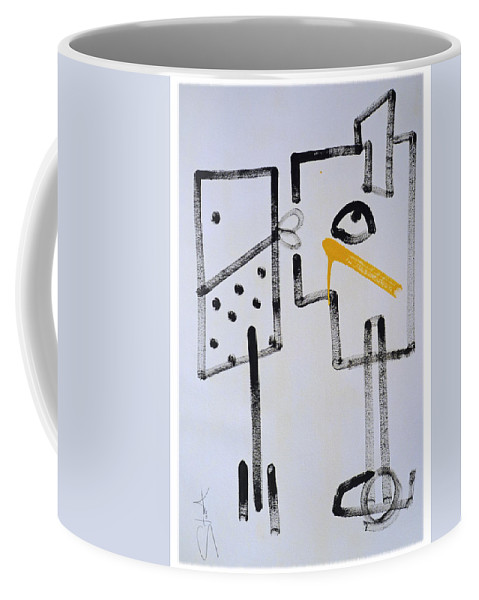 Drawing Coffee Mug featuring the painting Desperados Waiting For A Train by Charles Stuart