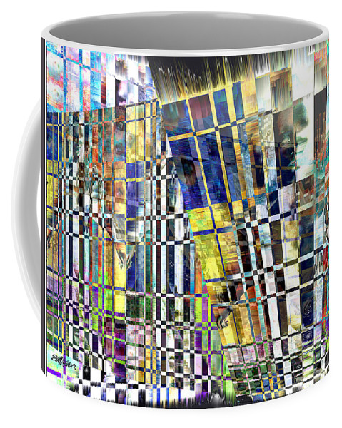 Abstract Coffee Mug featuring the digital art Desperate Reflections by Seth Weaver
