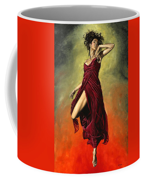 Dance Coffee Mug featuring the painting Destiny's Dance by Richard Young