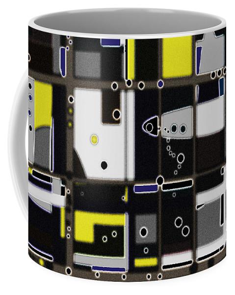 Digital Coffee Mug featuring the digital art Destructured No. 1 by Joy McKenzie