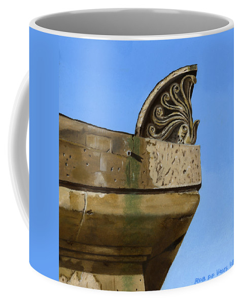 Building Coffee Mug featuring the painting Detail Lighthouse Egmond by Rob De Vries