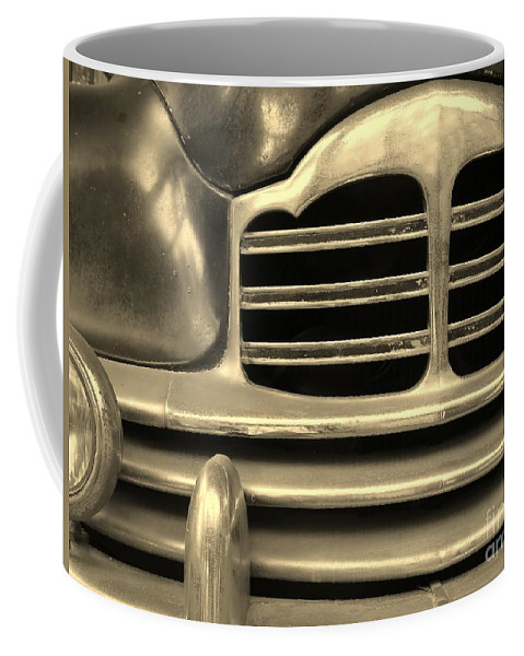 Car Coffee Mug featuring the photograph Detail Of An Old Car by Yali Shi