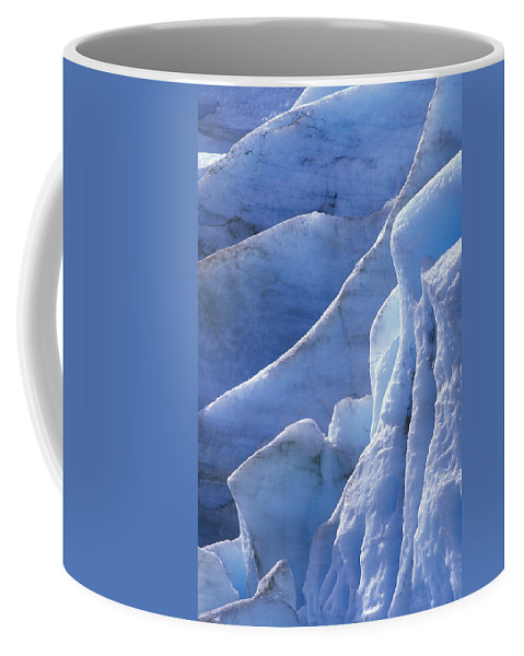 Ice Coffee Mug featuring the photograph Detail Of Blue Ice On Exit Glaicer by Rich Reid