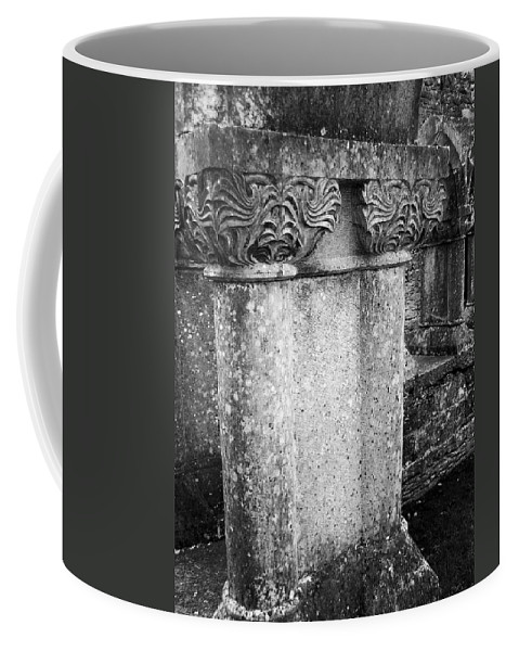 Irish Coffee Mug featuring the photograph Detail Of Capital Of Cloister At Cong Abbey Cong Ireland by Teresa Mucha
