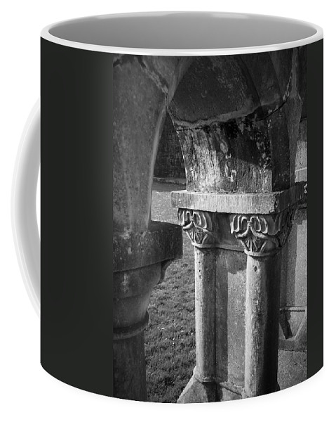 Irish Coffee Mug featuring the photograph Detail Of Cloister At Cong Abbey Cong Ireland by Teresa Mucha