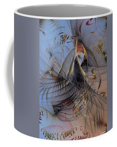 Abstract Coffee Mug featuring the digital art Deterministic Chaos by Casey Kotas