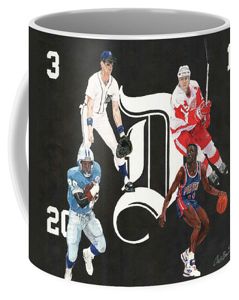 Alan Trammell Coffee Mug featuring the mixed media Legends Of The D by Chris Brown