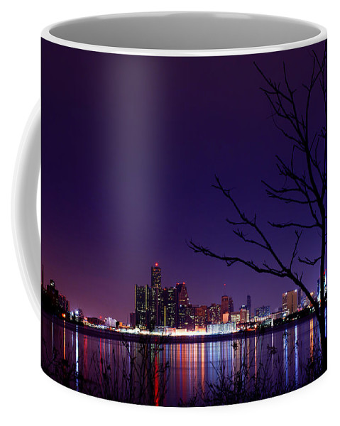 Detroit Coffee Mug featuring the photograph Detroit Skyline by Cale Best