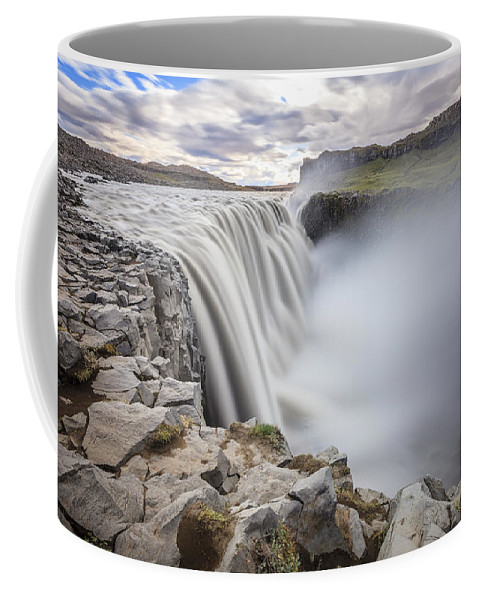 Dettifoss Coffee Mug featuring the photograph Dettifoss by Alexey Stiop