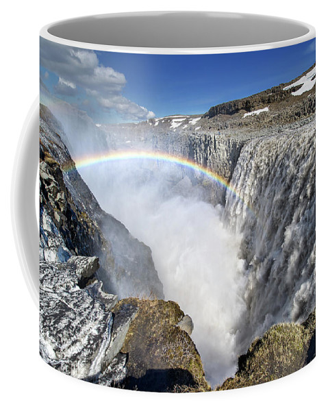 Iceland Coffee Mug featuring the photograph Dettifoss by Xeridat Vincent