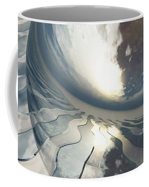 Fantasy Coffee Mug featuring the digital art Deviating World by Richard Rizzo