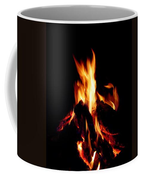 Devil Coffee Mug featuring the photograph Devil Fire by Peter Piatt