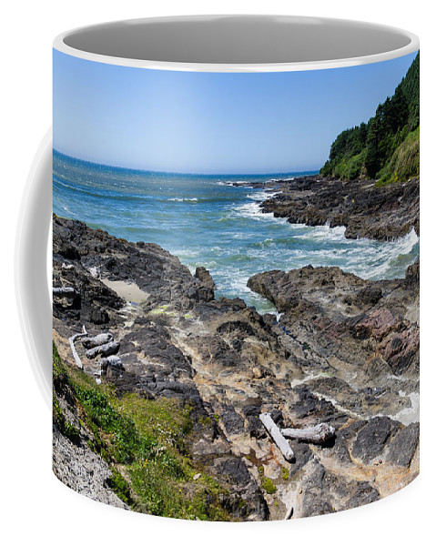 Devils Punch Bowl Coffee Mug featuring the photograph Devils Punch Bowl by John Trax