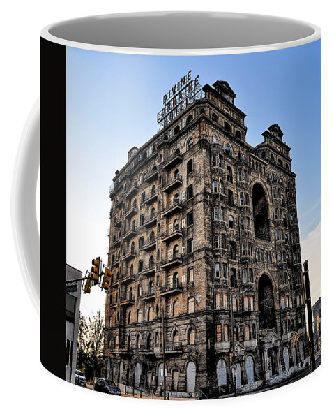 Devine Coffee Mug featuring the photograph Divine Lorraine Hotel - Broad Street Philadelphia by Bill Cannon