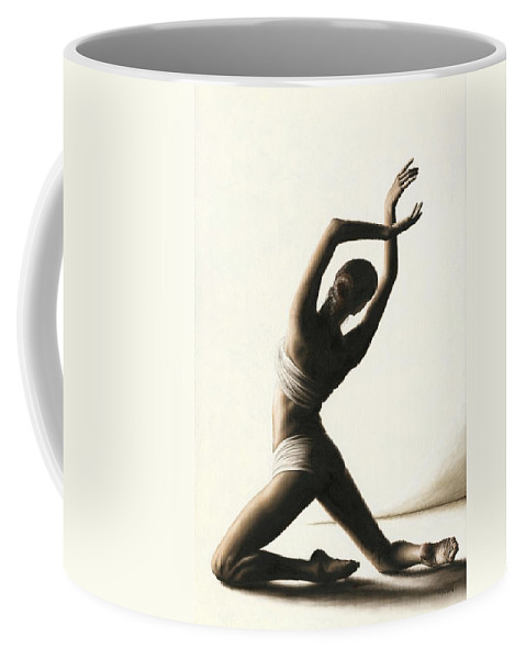 Dancer Coffee Mug featuring the painting Devotion to Dance by Richard Young