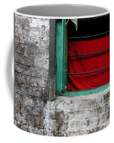 Red Coffee Mug featuring the photograph Dharamsala Window by Skip Hunt