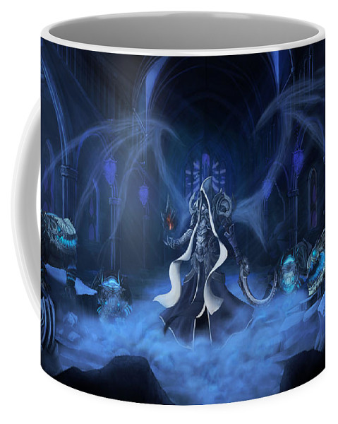 Diablo Iii Reaper Of Souls Coffee Mug featuring the digital art Diablo IIi Reaper Of Souls by Zia Low