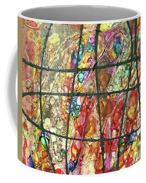 Keith Elliott Coffee Mug featuring the painting Diabolical Madness - V1cfs100 by Keith Elliott