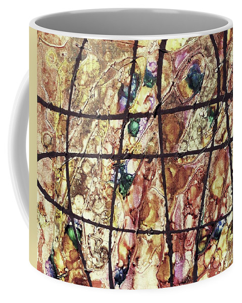 Keith Elliott Coffee Mug featuring the painting Diabolical Madness - V1vsf100 by Keith Elliott