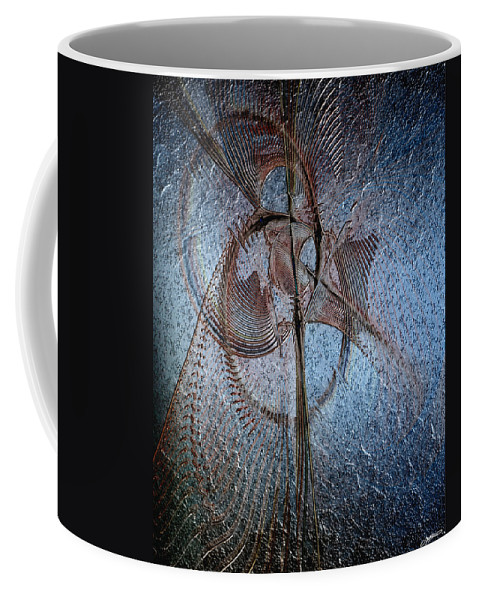 Abstract Coffee Mug featuring the digital art Diachrony Of Altruism by Casey Kotas
