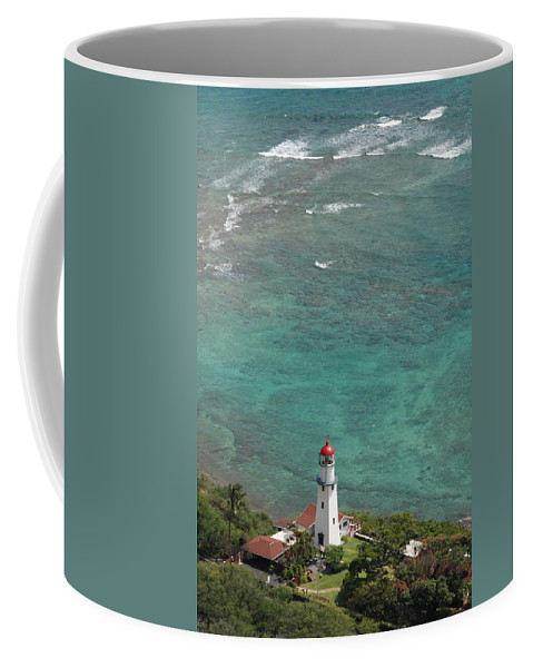 Lighthouse Coffee Mug featuring the photograph Diamond Head Lighthouse 3 by Carol Eliassen